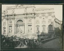 Italie, Rome, Fontaine de Trevi, ca.1900, Vintage silver print Vintage silver pr