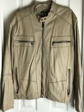 Andrew Marc BEIGE Leather Jacket Sz. XL NEW WITH TAGS MSRP $695.00