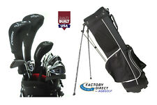 "AGXGOLF MEN'S LEFT HAND CADET -1"" MAGNUM GOLF CLUB SET wBAG+DR+5WD+HY+5-PW IRONS"
