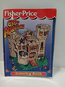 Vintage Fisher Price Great Adventures Coloring Book Castle Knights 1995 Unused L