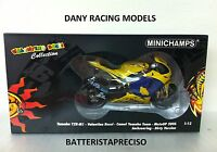 MINICHAMPS VALENTINO ROSSI 1/12 YAMAHA 2006 DIRTY WINNER GP GERMANY SACHSENRING