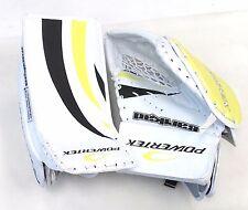 New Powertek Barikad Jr. blocker and glove yellow/black junior ice hockey goalie