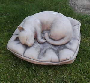 Latex Mould Garden Ornament Cat On A Cushion New