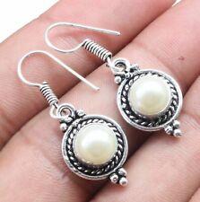 Fresh Water Pearl Gemstone Dangle Earring 925 Sterling Silver Overlay U247-A111