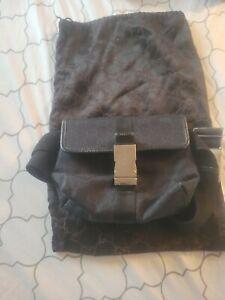 Gucci Handbag Fanny Pack Waist Bum Bag Purse Waist Guccissima Jackie Black GG