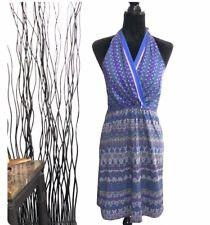 Athleta Purple & Blue Halter Dress