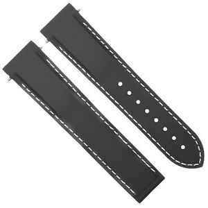 20-22MM RUBBER DIVER WATCH STRAP BAND  FOR OMEGA SEAMASTER WATCH CURVED ENDS
