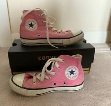 GIRLS CONVERSE ALL STAR HI BOOTS PINK UK SIZE 12.5 WITH BOX