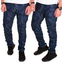 Herren Jeans Chino Blau Harem kosmo Hose Lupo Clubwear Camouflage Neu J.5.7