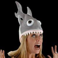 Shark Hat Cap Headgear Party Fancy Dress Up Fish Sea Animal Costume Accessory