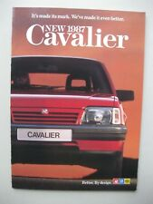 Vauxhall Cavalier prestige brochure Prospekt English text 24 + 4 pgs 1986 1987