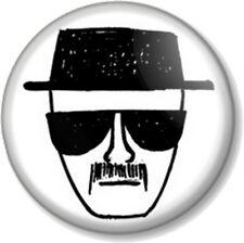 """Heisenberg - Breaking Bad 1"""" 25mm Pin Button Badge Walter White Jesse Pinkman"""