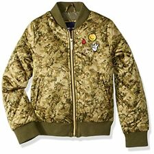 Limited Too Girls' Little Bomber W/Patches & Quilted Sleeves, Camoflauge, 5/6