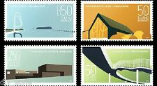 Modern Design V Architecture set of 4 mnh stamps 2014 Iceland #1334-7 bridge