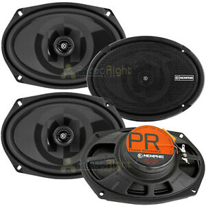 """4 Pack Memphis Audio 6x9"""" 2 Way Coaxial Speakers Power Reference Series 50W RMS"""