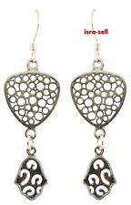 925 Sterling Silver HAMSA EARRINGS - Jewish Jewelry - Evil Eye Protection - Luck