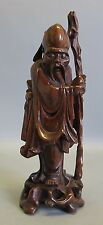 """Fine Antique Chinese 11"""" Hand-Carved Root Figure of Elder  c. 1900-20  sculpture"""