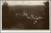 Bad Elster Sachsen Postkarte ~1920/30 Blick von der Agnes Ruhe Kirche ungelaufen