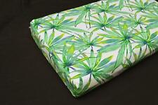 LF817t  White Green leaf Cotton Canvas 3D Seat Box Shape Cushion Cover