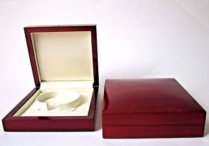 LUXURY RICH MAHOGANY WOOD  BANGLE JEWELLERY GIFT BOX-MBK5-*XDS*