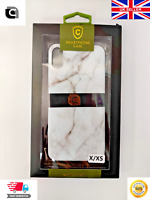 Apple iPhone X XS Marble Back Case Cover - Black | White | Pink CPR® Boxed