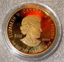 2008 CANADA $350 DOLLARS 99999 PURE GOLD COIN, PURPLE SAXIFRAGE, EARLY  #439