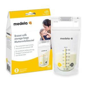 Medela Set of 180 ml Breast Milk Storage Bags - Pack of 25 BPA-free breast mi...