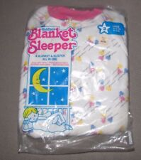 VINTAGE TODDLER GIRL BLANKET SLEEPER FLEECE FOOTED FOOTIE PJS PAJAMAS 3 3T NEW
