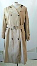 Etienne Aigner Camel Double Breasted Polyester Blend Trenchcoat Womens sz 10