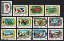 Dominica Birds Butterflies Flowers Definitives 12v MNH SG#272-290