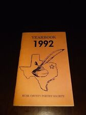 Rusk County Poetry Society Yearbook 1992 Vol XXI