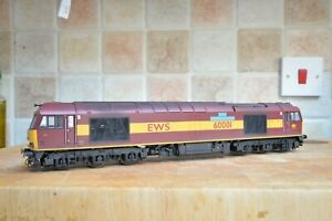 Hornby Class 60 Number 60001 EWS Maroon Livery pro-renumbered and weathered