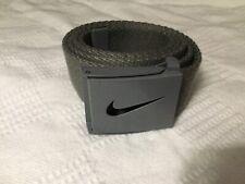 """Nike Gray Belt  Buckle Adjustable to 40"""" Swoosh"""