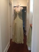 Carlos Miele Green Lime Evening Gown Size 40 4