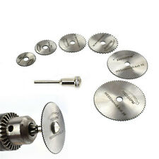New 7pc HSS Circular Wood Cutting Saw  Rotary Blade Discs for hand Tool Mandrel