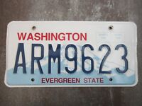 Washington (ARM9623) American License Number Plate Collecting Craft Hobby