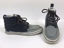 Vans Sk8 Hi Tops Sneakers Skater Punk Blue Leather Canvas Mens 8.5 Womens 10
