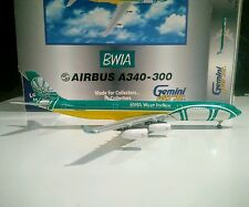 Gemini Jets GJBWA316 BWIA British West Indies 9Y-TJN 1/400 Airbus A340-300 model