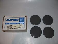 Lot (4) Genuine Maytag Gray Surface Burner Caps Oven Range #74007707 OEM New