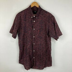 RVCA Mens Button Up Shirt Size XL Multicoloured Floral Short Sleeve Collared