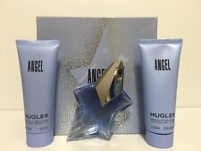 ANGEL BY THIERRY MUGLER WOMEN PERFUME GIFT SET EDP SPRAY 1.7 oz + B/L + S/G NIB