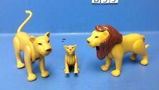 (B59) playmobil famille de lion zoo savane
