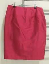 Geoff Bade Satin Evening Pencil Skirt Coral Pink Size 12