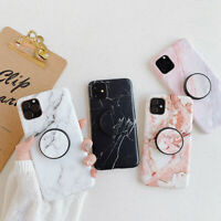Marble Soft TPU Case With Stand Holder for iPhone 11 Pro Max XS XR 6s 7 8 Plus X