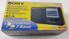 Sony ICF-36 Portable AM/FM/TV/Weather Radio