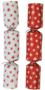 Christmas Crackers x 12 Doodle Dash Novelty Drawing Game Snowflake crackers