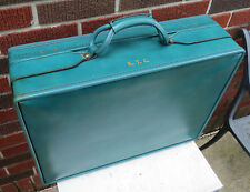 """Vintage Rare Turquoise Hartmann 21"""" Belted Leather Suitcase Luggage or Display"""