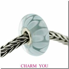 AUTHENTIC TROLLBEADS 61407 Light Blue Shadow Glass Bead