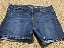 AE AMERICAN EAGLE MIDI STRETCH WOMENS JEAN SHORTS SIZE 14