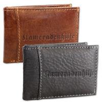 Mini Geldbörse Herren Echtleder Portemonnaie Geldbeutel Brieftasche für Männer